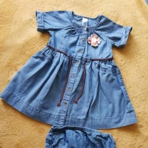 Carter's Blue dress for toddler size 18 Month